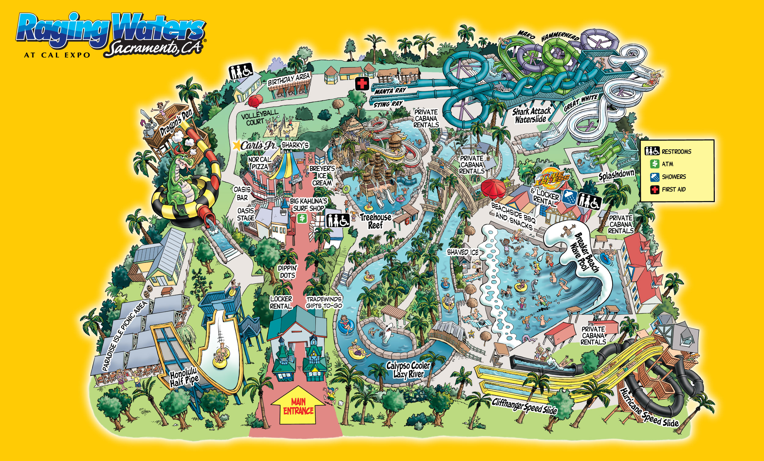 Water Park Map | Raging Waters Sacramento