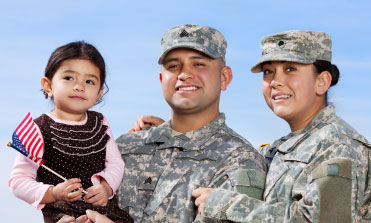 military member and family photo